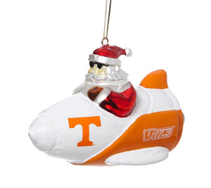 Rocket Santa - Santa Gets There - Tennessee Volunteers Christmas Ornament