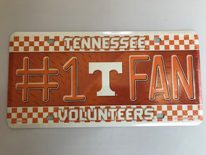 TN VOLS #1 FAN License Plate Tag