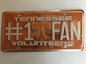 TN VOLS #1 FAN GLITTER License Plate Tag