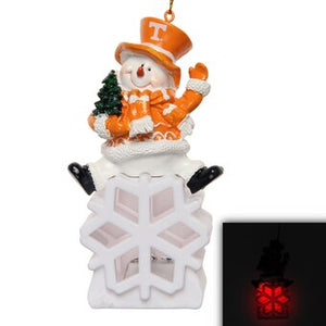Tennessee Vols Snowman LED Christmas Ornament
