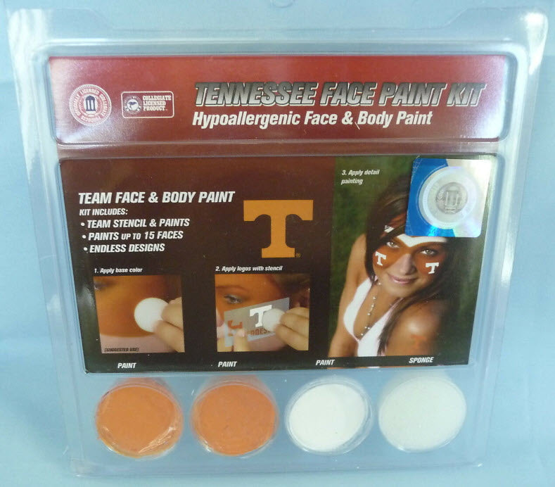 Tennessee Vols Stencil And Face Paint Kit Rocky Top Gifts