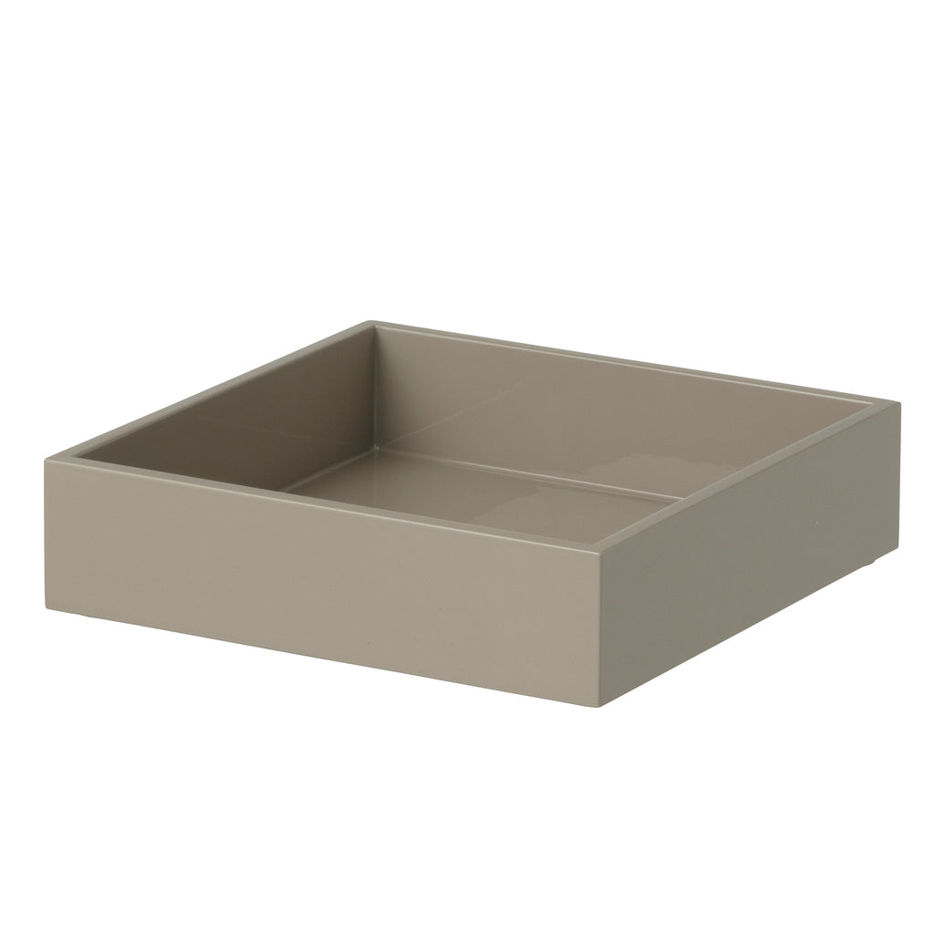 Lacquer Napkin Holder, Taupe
