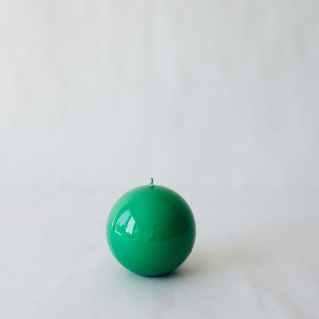 Sphere Candle, Emerald