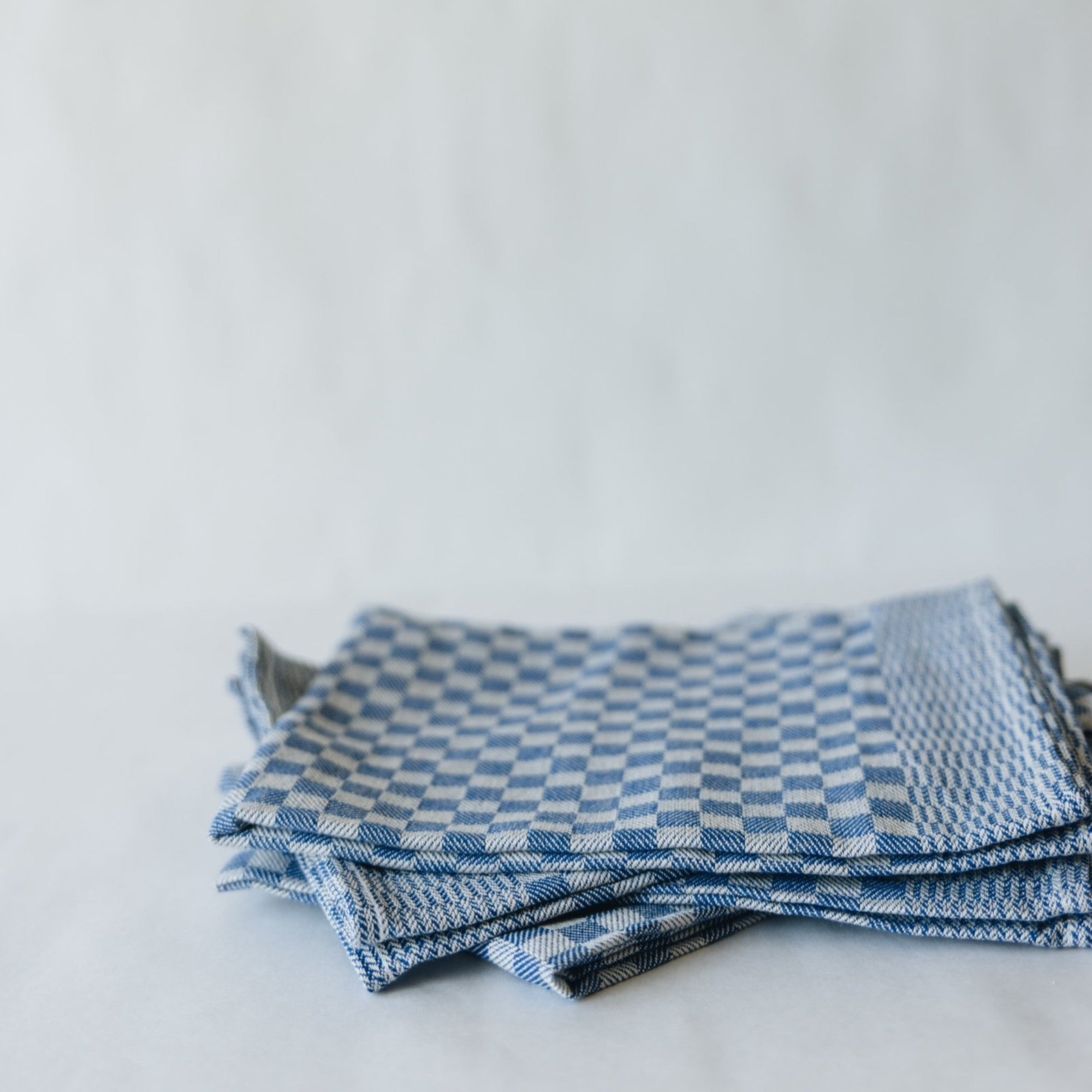 Check Dish Towel, Blue