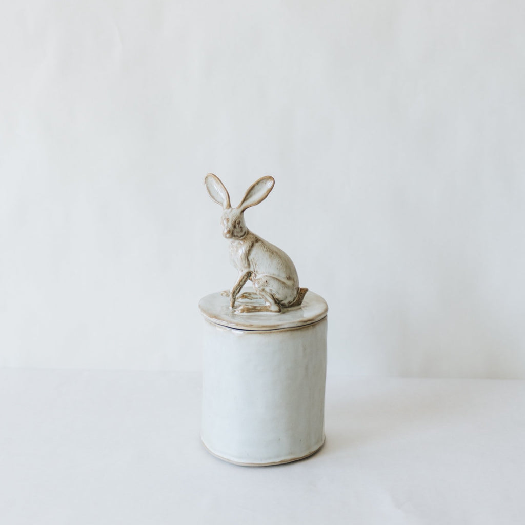 Rabbit Lidded Vessel