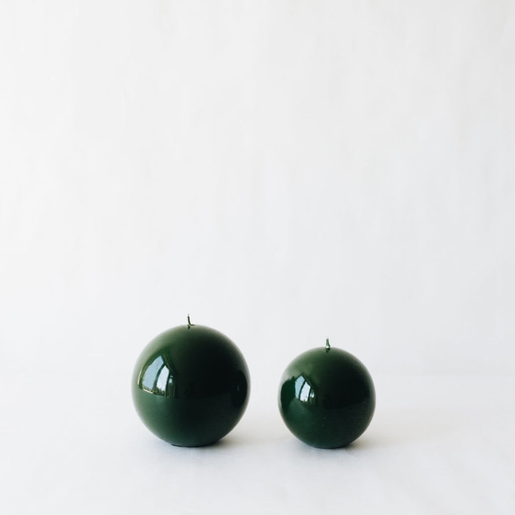 Sphere Candle, Olive