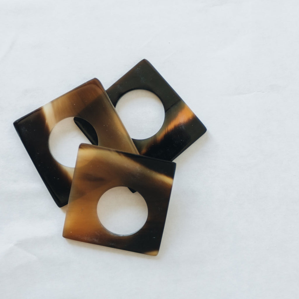 Square Horn Napkin Ring, Set of 4