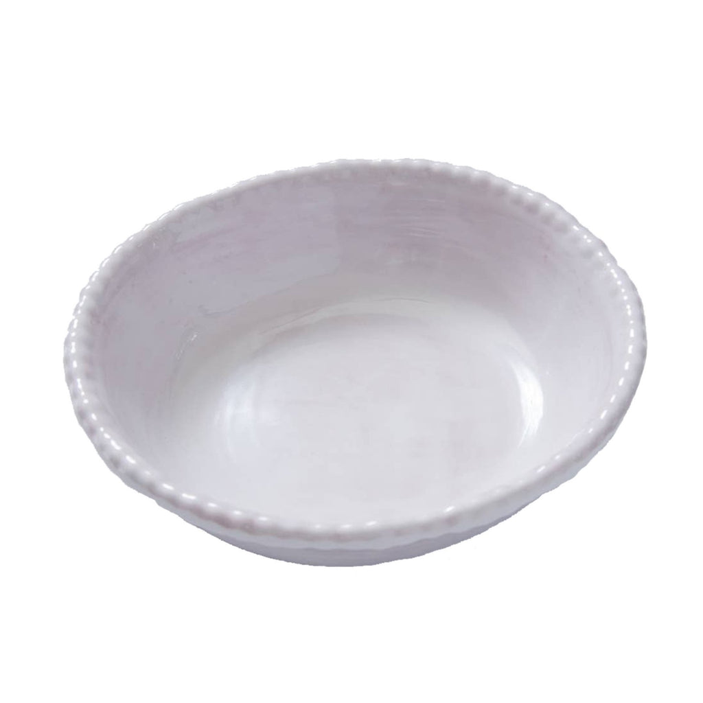 Bead Melamine Bowl, White