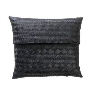 Handwoven Clutch, Black