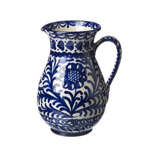 Ceramic Pitcher, Blue