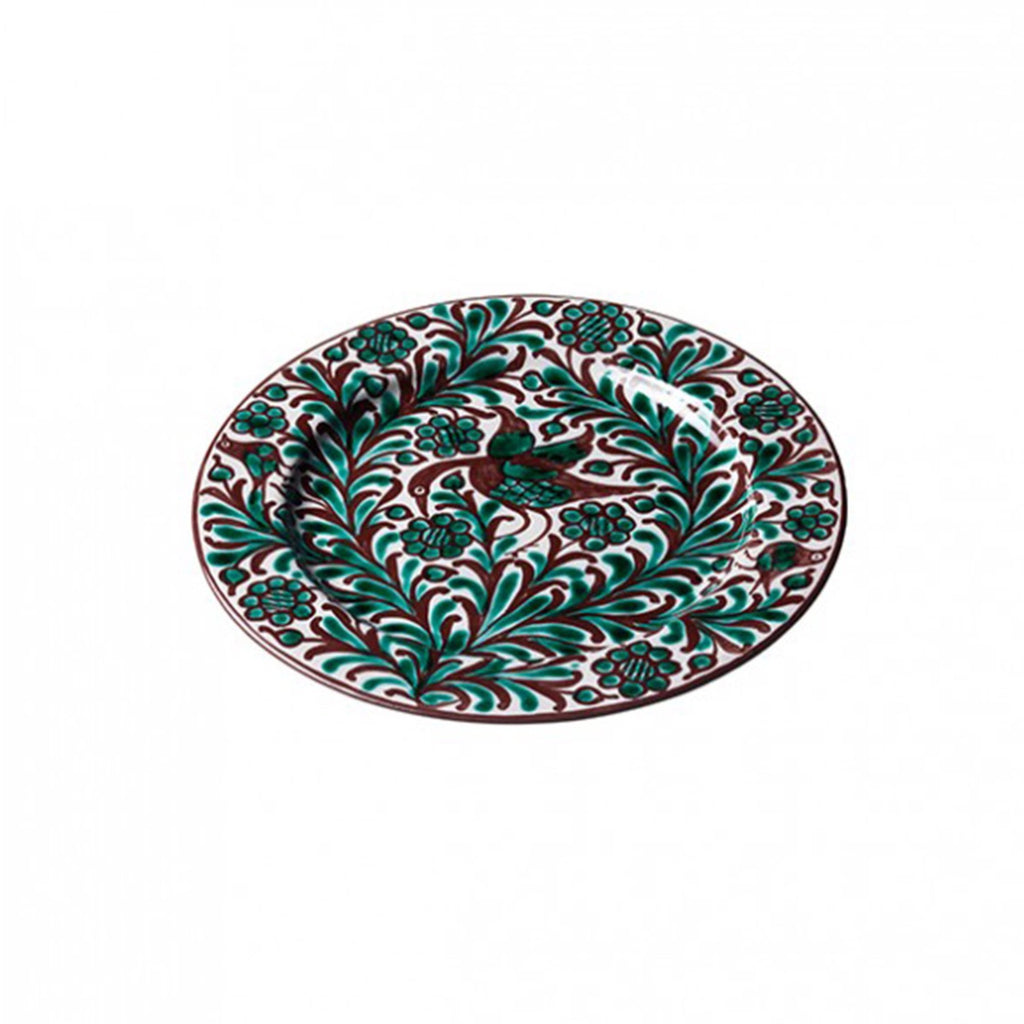 Bird Salad Plate, Brown