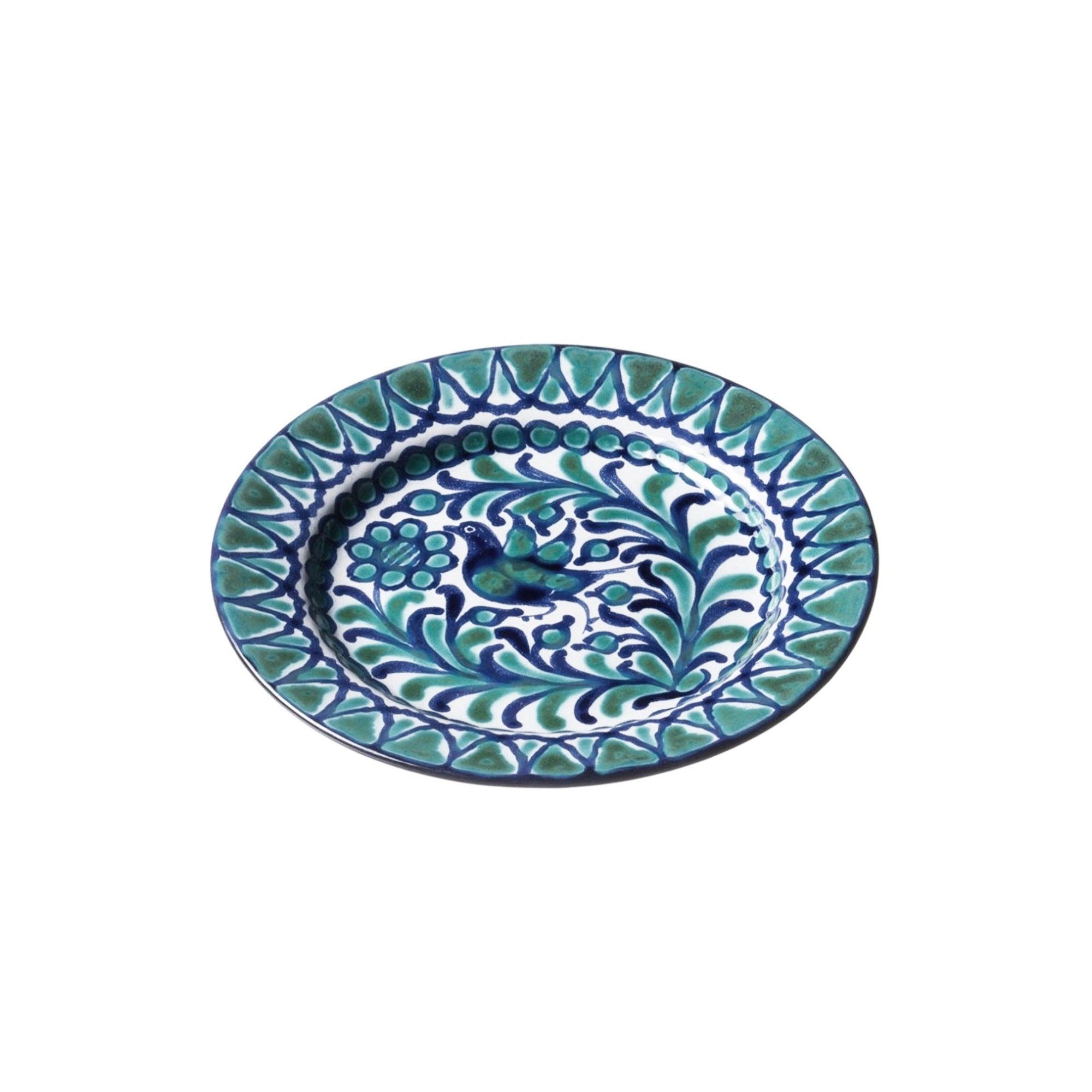 Bird Salad Plate, Green