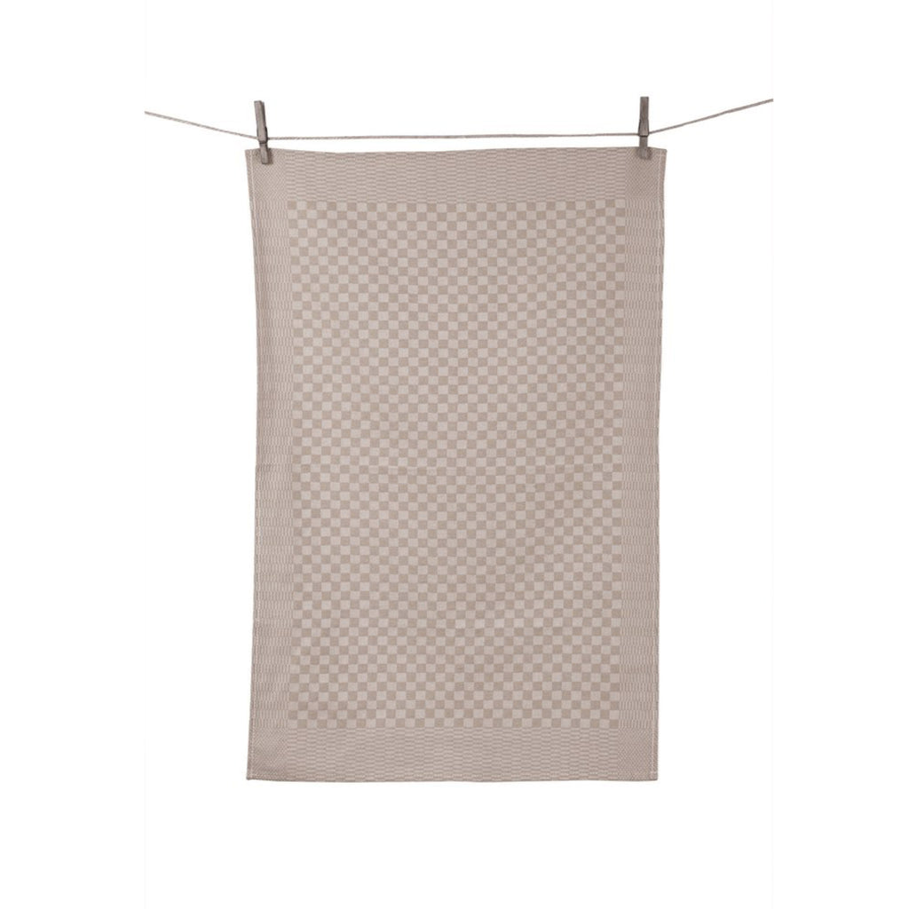 Check Dish Towel, Taupe