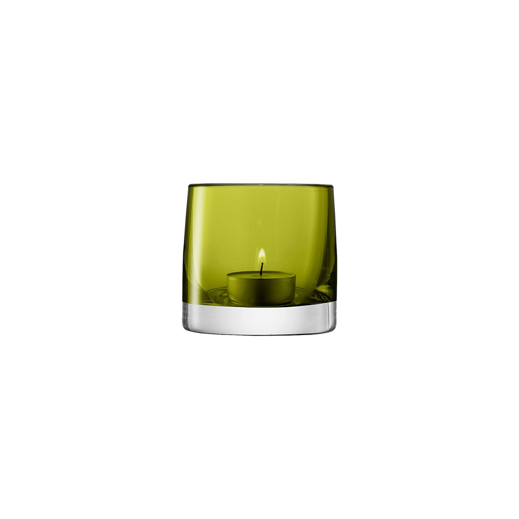 Olive Glass Votive