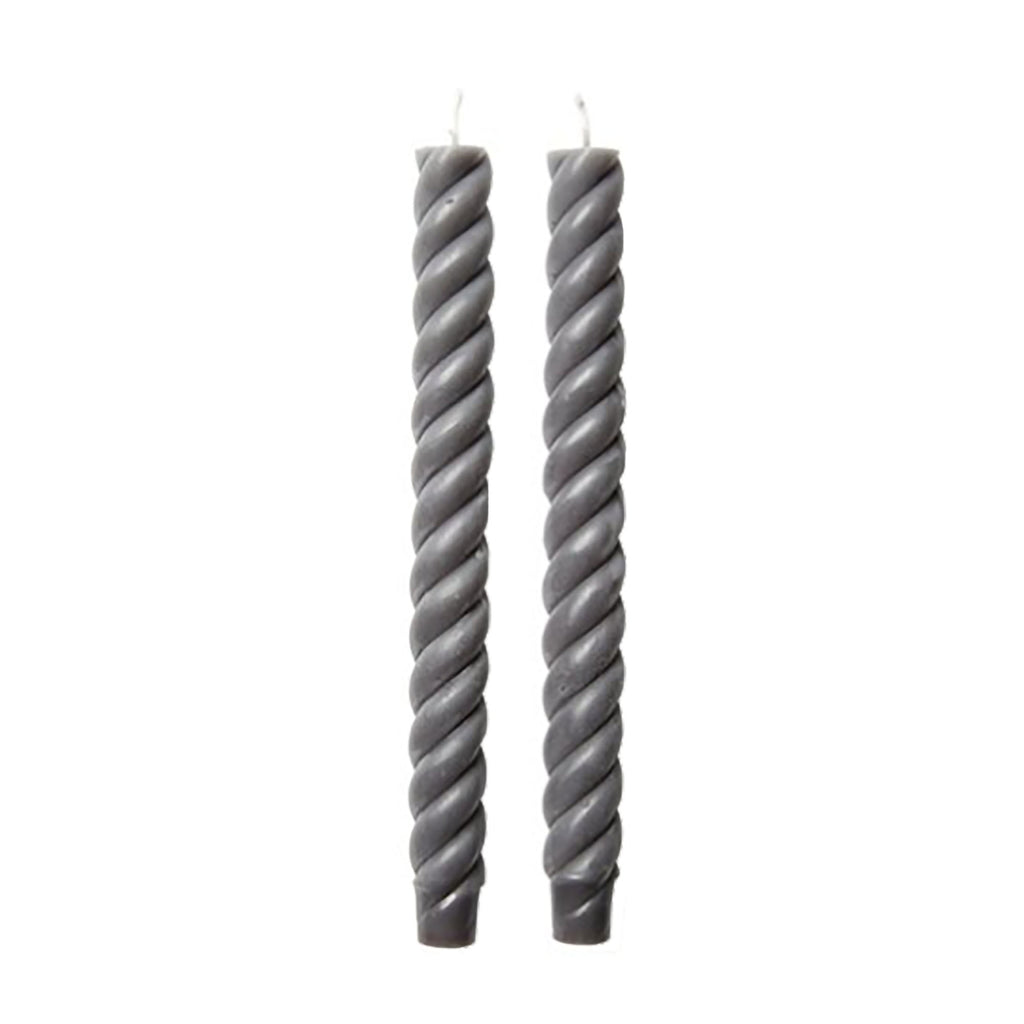 Rope Taper Candles, Grey