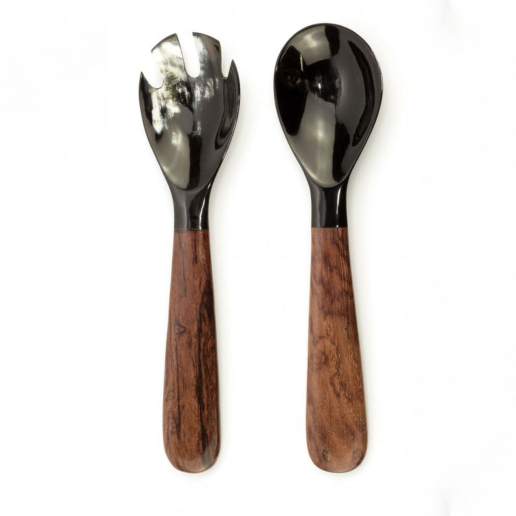 Wood & Horn Salad Set