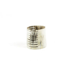 Striped Horn Candleholder, Large
