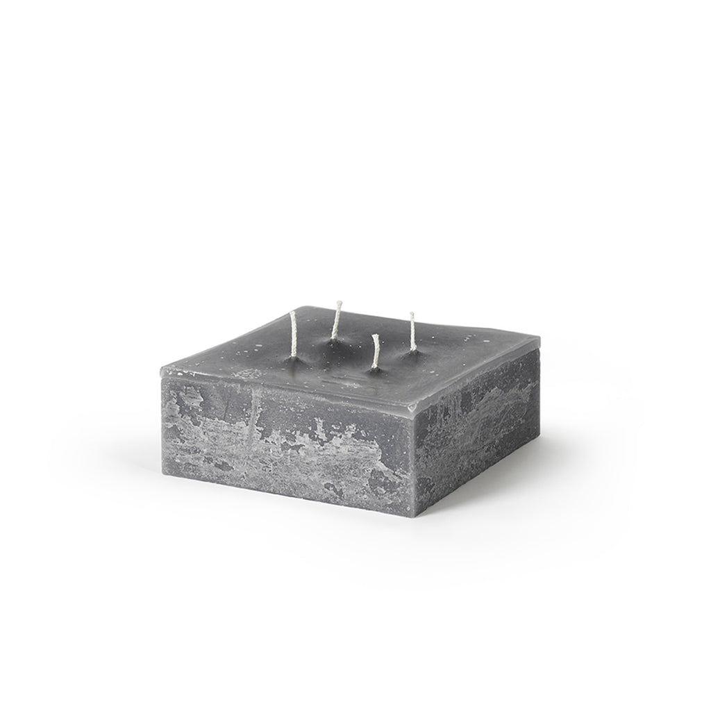 Square Pillar Candle, Grey