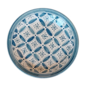 Moroccan Plate, Blue