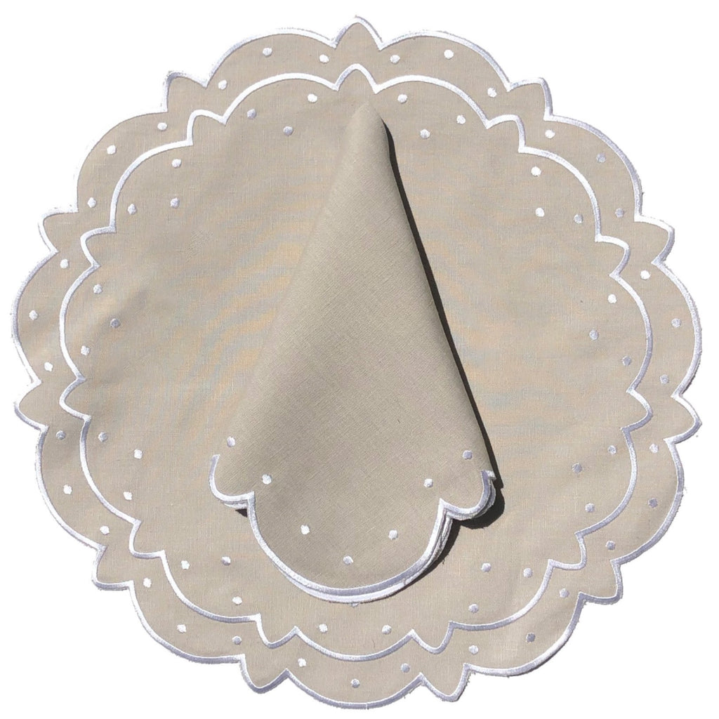 Scalloped Napkin, Linen