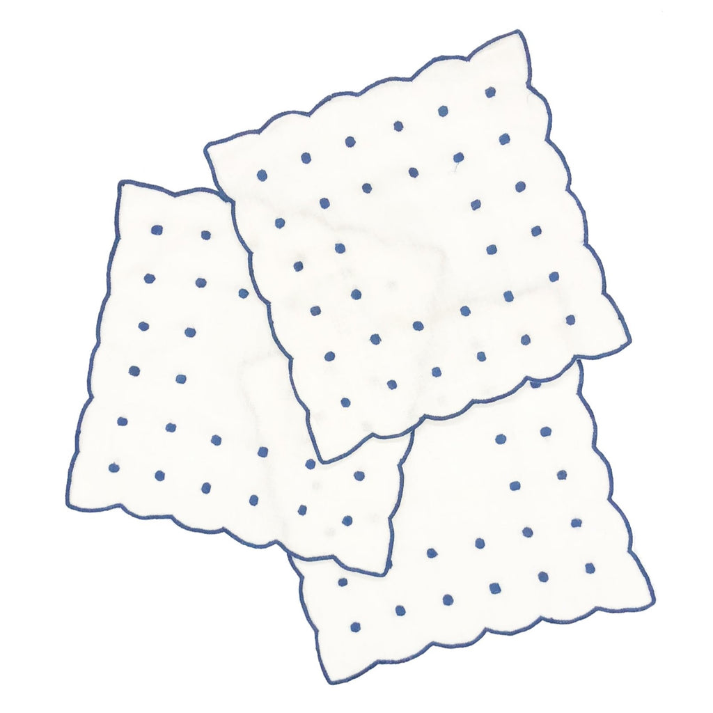 Dot Cocktail Napkins, Navy