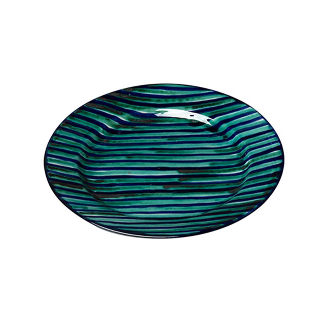 Rayas Dinner Plate, Blue