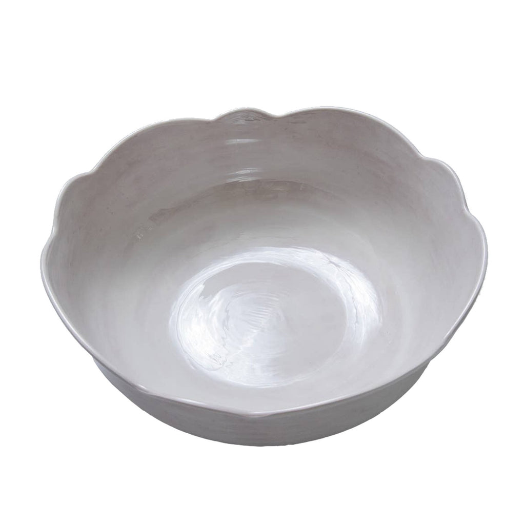 Scallop Melamine Bowl, Taupe
