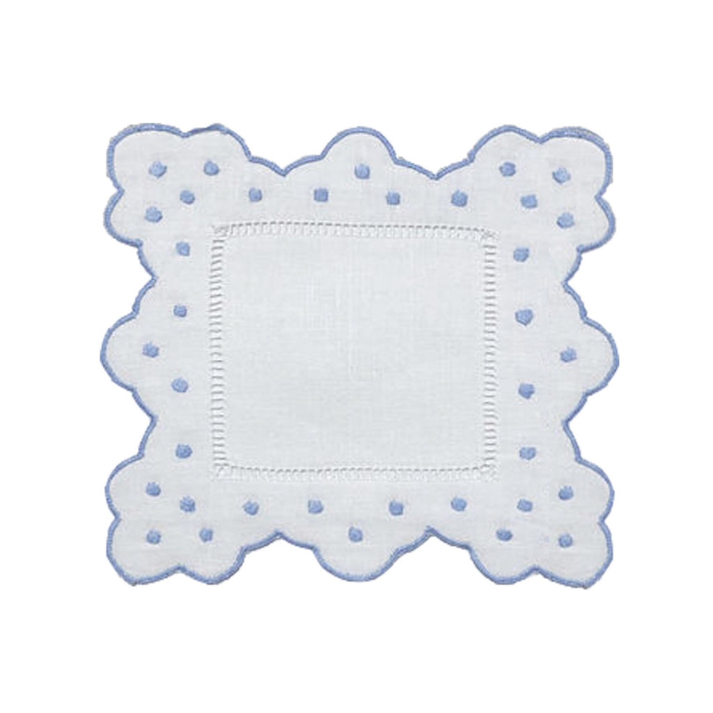 Scallop & Dot Cocktail Napkins