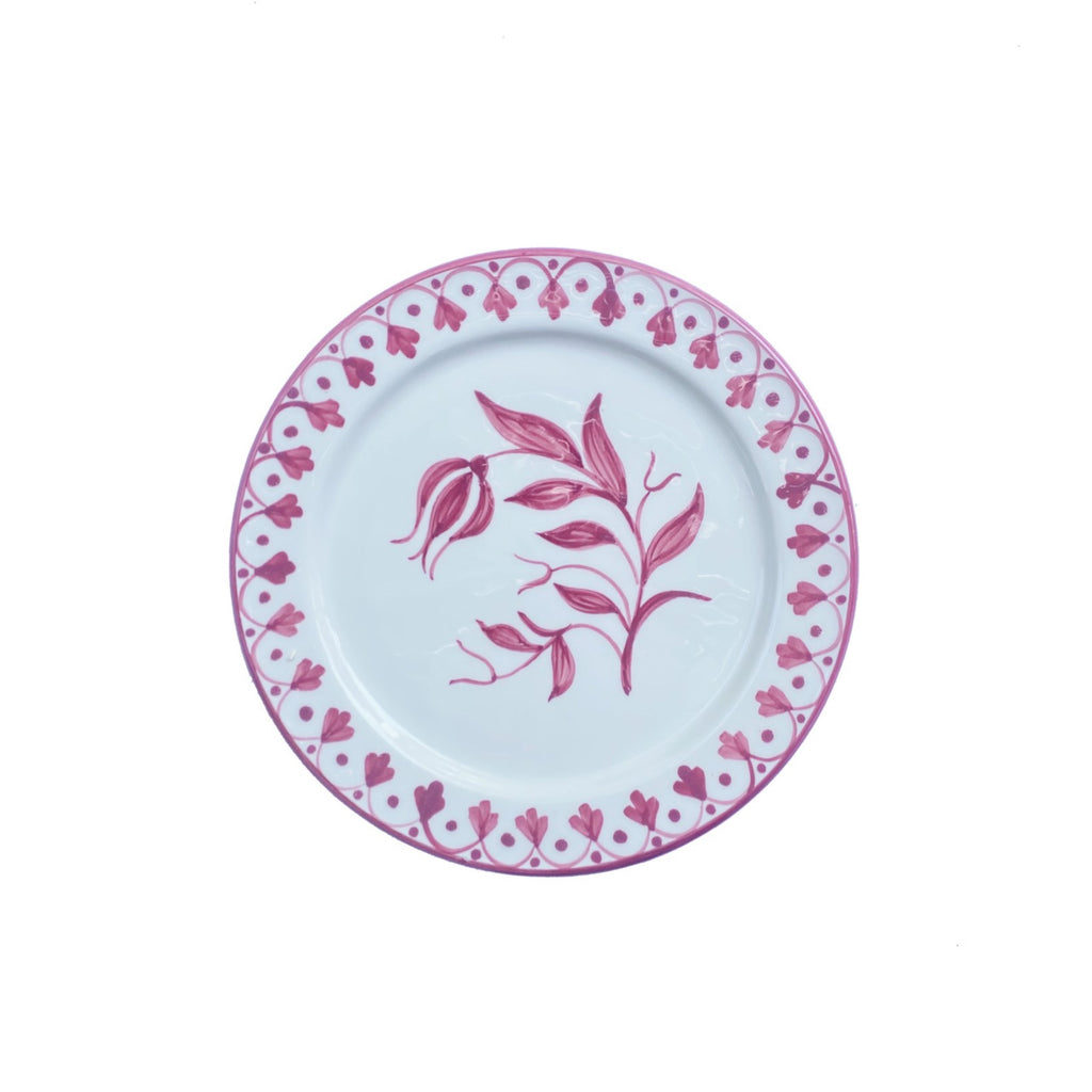 Tulip Salad Plate, Rose