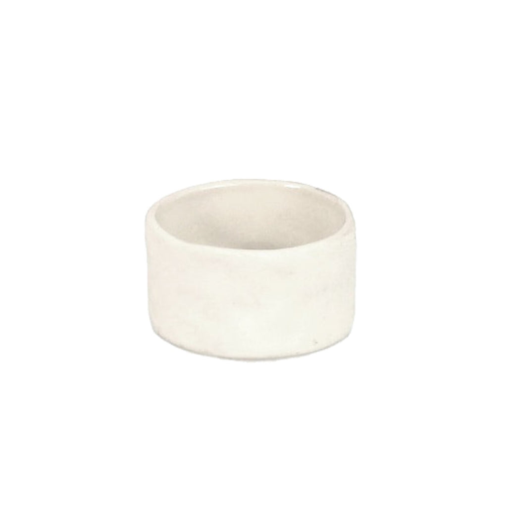 Ceramic Napkin Ring, White
