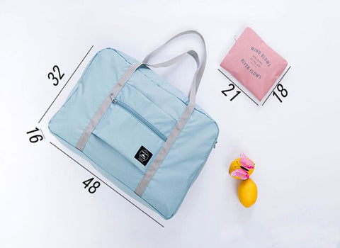 Foldable travel bag size