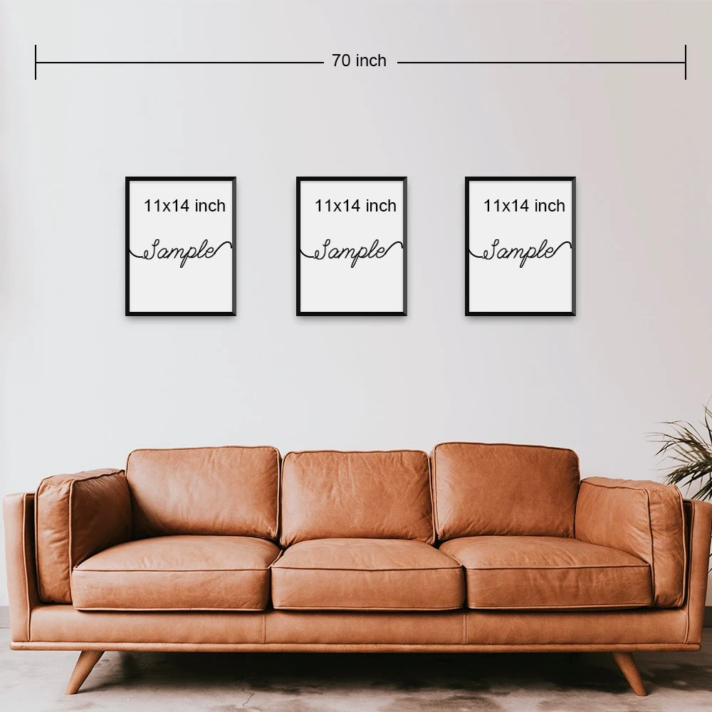 Set of 3 Canvas Print | Food Family Love | Living Room Decor (No. 14)
