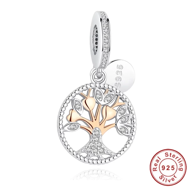 Silver Gold Tree of Life Charms fit Pandora
