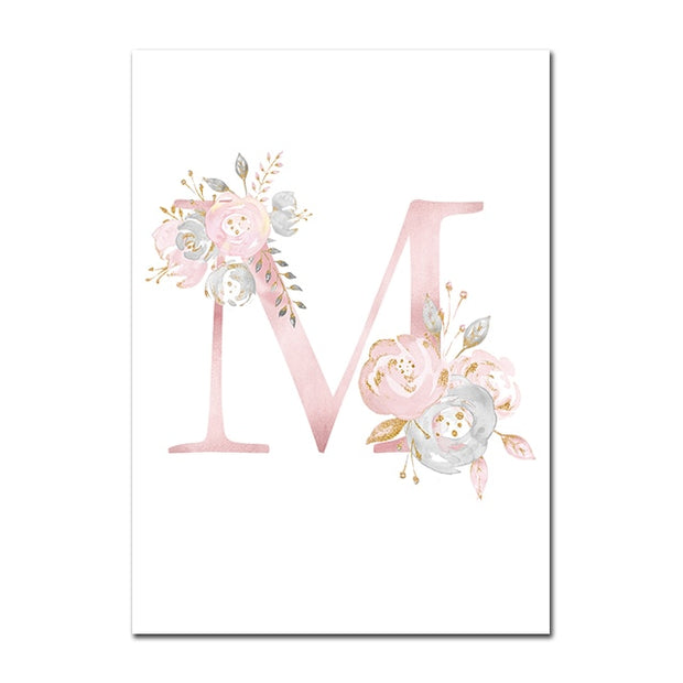 Personalized Girl's Name Custom Poster Nursery Prints
