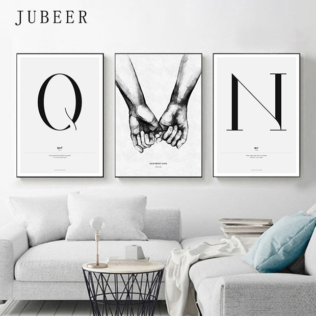 Quote Words Nordic Style Canvas Painting