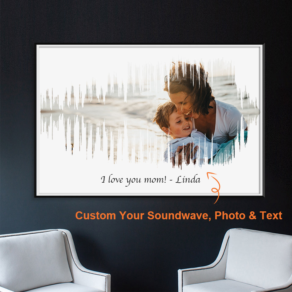 Mother's Day Special! Turn your own voice, photo and text into a visual artwork. (No. 19)