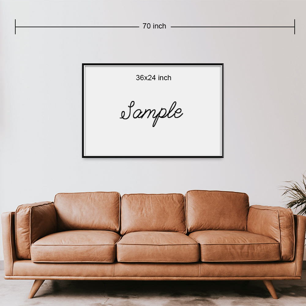 Single Canvas Print | Bless Topic | Living Room Decor (No. 11)