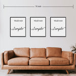 Set of 3 Canvas Prints | Live Laugh Love | Living Room Decor (No.2)