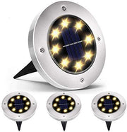 Solar Ground lamp 8 LEDs Disk Lights