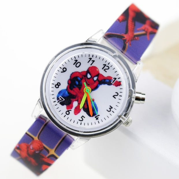 Princess Elsa Children Watches & Spiderman Colorful Light Source Boys Watch
