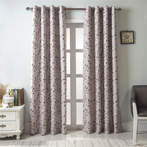 Gyrohomestore Room Darkening Blackout Solid Grommet Single Curtain Panel
