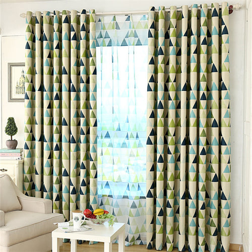 Gyrohomestore Geometric Room Darkening Grommet  Blackout Curtain Panels