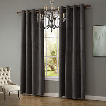 Load image into Gallery viewer, Gyrohomestore Faux Suede Room Darkening Grommet Curtains