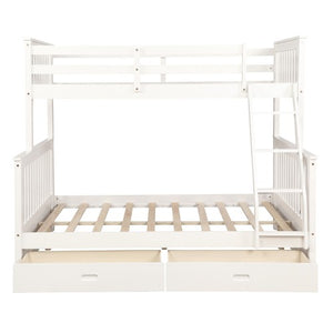 Gyrohomestore Twin-Over-Full Bunk Bed with Ladders For Bed Room
