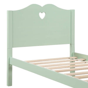 Gyrohomestore Twin Platform Bed with Wood Slat Support and Headboard