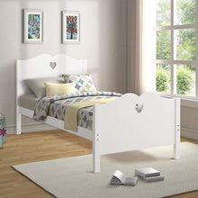 Load image into Gallery viewer, Gyrohomestore Twin Platform Bed with Wood Slat Support and Headboard