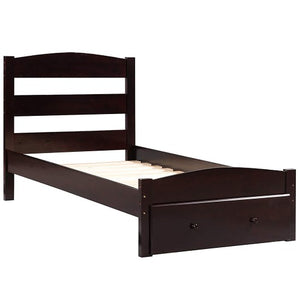 Gyrohomestore Platform Twin Bed Frame with Storage Drawer