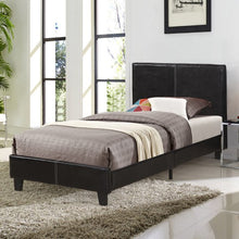 Load image into Gallery viewer, Gyrohomestore Upholstery Twin Platform Bed with Faux-Leather