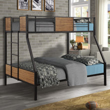 Load image into Gallery viewer, Gyrohomestore Modern Steel Frame Bunk Bed with Safety Rail