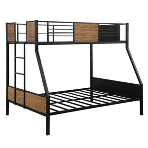 Gyrohomestore Modern Steel Frame Bunk Bed with Safety Rail